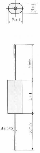CL20A型金属化聚酯膜介质直流固定电容器尺寸图