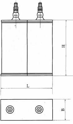 CH68A型交流复合介质换相电容器尺寸图