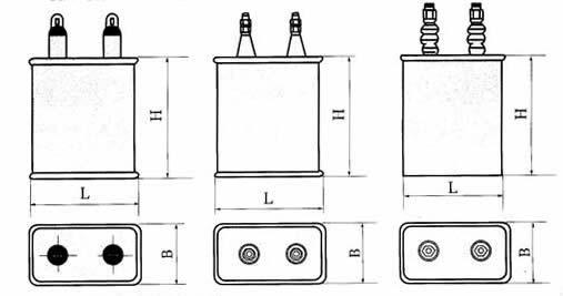 CZ82型高压密封纸介电容器尺寸图
