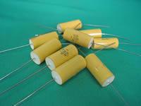 CL20型金属化聚酯膜介质直流固定轴向电容器实物图