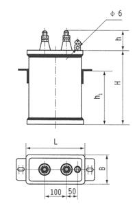 BKMJ电力机车专用电容器尺寸图