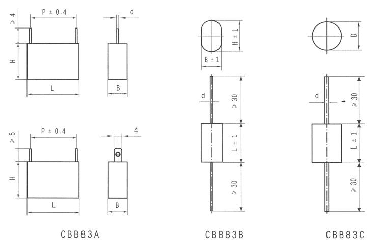 典型应用 隔直、耦合、去耦、旁路,尤其适用于 IGBT整流后滤波电路。 一般特性 介质:聚丙烯,损耗小,非常适用在大电流脉冲电路场合下使用。 电极:真空蒸镀铝金属化层,体积小,重量轻。具有优良的自愈性能,安全可靠。 卷绕:无感 引线:根据客户要求,可以镀锡铜线、塑包多股铜线、引出片、铜螺栓、内螺母等。轴向或径向引出结构。 封装:阻燃塑料外壳或聚酯阻燃耐热胶带灌封阻燃环氧树脂。 技术与性能指标 1、额定电压:( U