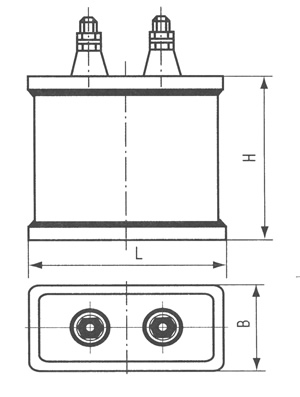 CBBM型激光、脉冲、储能电容器尺寸图
