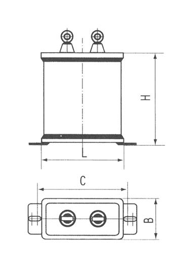 CBBT型交流金属化聚丙烯铁路电容器尺寸图