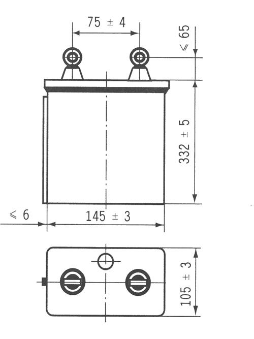CH69A型电力机车电容器尺寸图