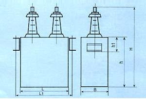 BFF/BFM系列 高压电力电容器尺寸图