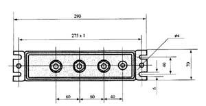 BSMJ型自愈式低压并联电容器尺寸图